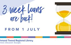 Three-week loans are back at your local library