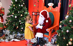Santa takes up residence at his Santa's Wonderland in Lismore