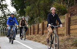 Cycleway re-opening marks milestone in city's flood recovery
