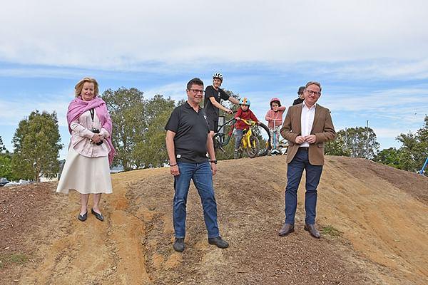 New $100,000 pump track for Nesbitt Park
