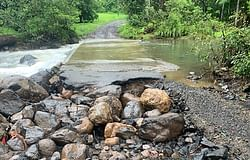 Gungas Road closed due to wet weather damage